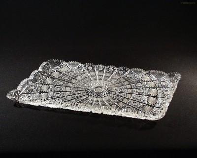 Tác obdelníkový broušený křišťálový 69170/57001/320  32cm. Tom Crystal Bohemia