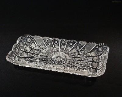 Tác obdelníkový křišťálový broušený 69171/57001/270  27cm. Tom Crystal Bohemia