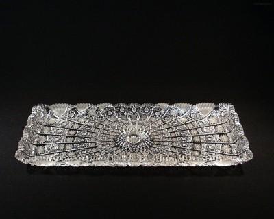 Tác obdelníkový křišťálový broušený 69171/57001/400  40cm. Tom Crystal Bohemia
