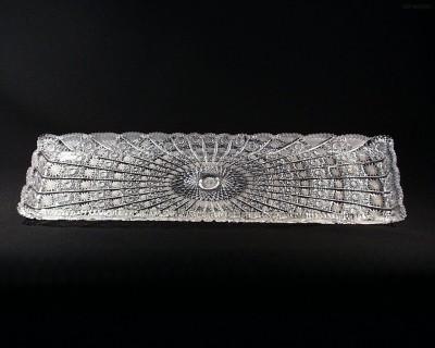 Tác obdelníkový křišťálový broušený 69172/57001/600  60cm. Tom Crystal Bohemia