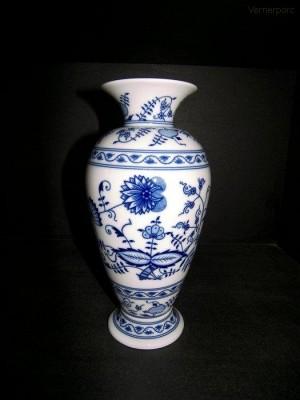 Váza z cibulového porcelánu, 30cm Leander Loučky