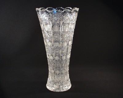 Váza křišťálová broušená 80019/57001/355  35cm. Tom Crystal Bohemia