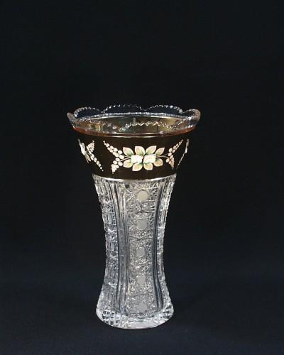 Váza křišťálová broušená 80021/57011/255  25cm. Tom Crystal Bohemia