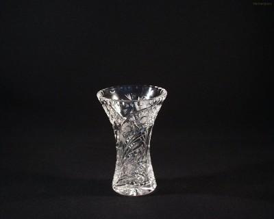Váza křišťálová broušená 80029/35003/155  15,5cm. páv Tom Crystal Bohemia
