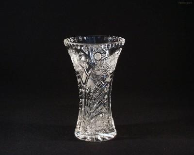Váza křišťálová broušená 80029/35003/205 20,5 cm. Tom Crystal Bohemia