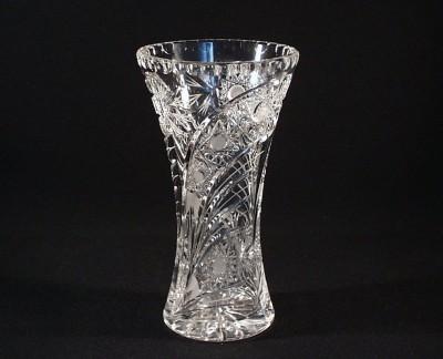 Váza křišťálová broušená 80029/35003/230 23 cm. Tom Crystal Bohemia