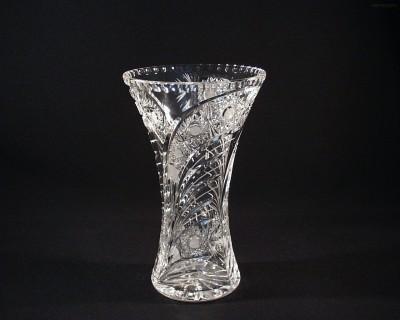 Váza křišťálová broušená 80029/35003/255  25,5cm. páv Tom Crystal Bohemia