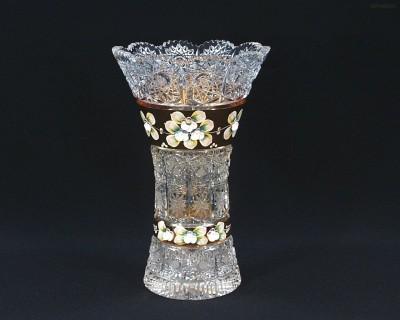 Váza křišťálová broušená 80029/57111/255  25,5 cm. Tom Crystal Bohemia