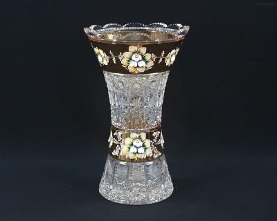 Váza křišťálová broušená 80029/57111/305 30,5 cm. Tom Crystal Bohemia