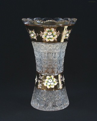 Váza křišťálová broušená 80029/57111/355 35,5 cm. Tom Crystal Bohemia