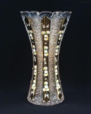 Váza křišťálová broušená 80029/57113/410 41cm. Tom Crystal Bohemia
