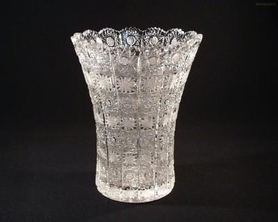 Váza křišťálová broušená 8006/57001/230  23cm. Tom Crystal Bohemia