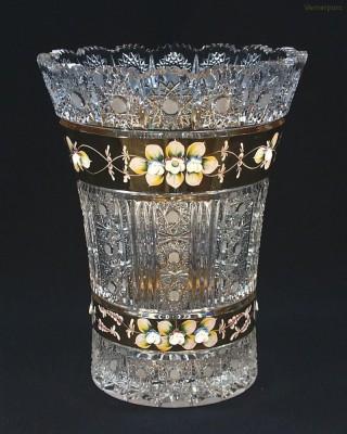 Váza křišťálová broušená 8006/57011/305  30,5cm. Tom Crystal Bohemia