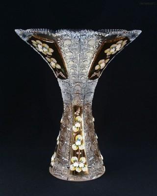 Váza křišťálová broušená 80080/57113/355 35,5cm. tanečnice Tom Crystal Bohemia