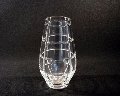 Váza křišťálová broušená 80513/10663/200  20cm. Tom Crystal Bohemia