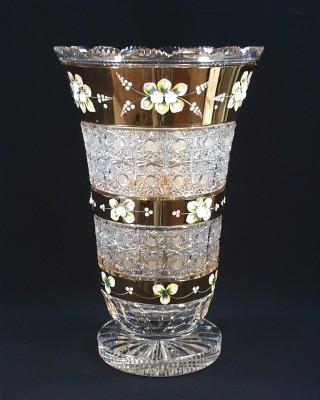 Váza křišťálová broušená 80838/57111/405  40cm Tom Crystal Bohemia