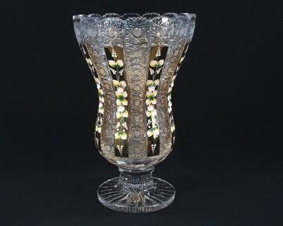Váza křišťálová broušená 83040/57113/405 40,5cm Tom Crystal Bohemia