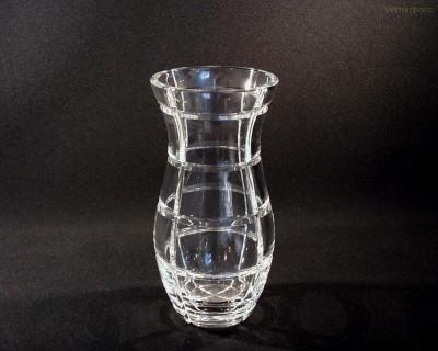 Váza křišťálová broušená 88382/10663/230 23cm. Tom Crystal Bohemia