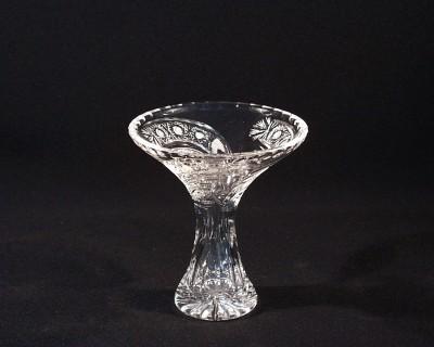 Váza křišťálová broušená Tanečnice 80080/35003/155 15,5cm, dekor páv Tom Crystal Bohemia