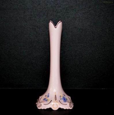 Váza Lenka štíhlá 247/P růžová dekor pomněnky Epiag