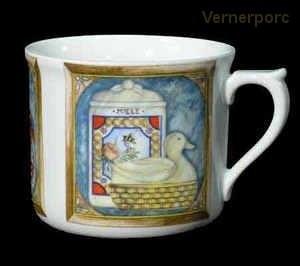 Velký porcelánový hrnek 80Y 0,7 l. Leander Loučky