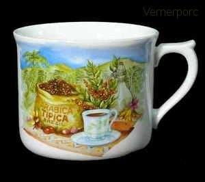Velký porcelánový hrnek na kávu s potiskem 807 0,7 l. Leander Loučky