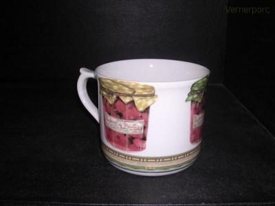 Velký porcelánový hrnek s potiskem marmelády 0,7 l. Leander Loučky