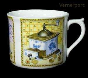 Velký porcelánový hrnek s potiskem mlýnku 0,7 l. Leander Loučky
