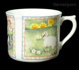 Velký porcelánový hrnek s potiskem ovce 0,7 l. Leander Loučky