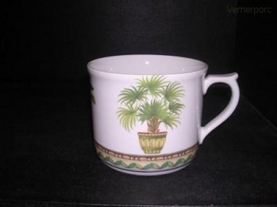 Velký porcelánový hrnek s potiskem palmy 0,7 l. Leander Loučky