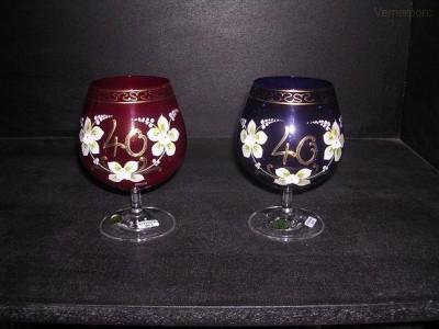 Výroční sklenice 40 400 ml. 1ks Crystalex