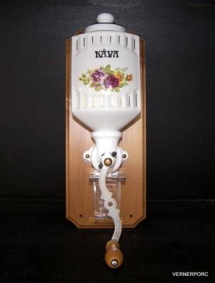 Závěsný mlýnek na kávu, funkční, s dekorem růže ZD