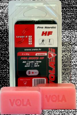 Závodní běžecký fluorový vosk červený PRO SKATE HF 225011 -5°C / 0°C 2x30g.