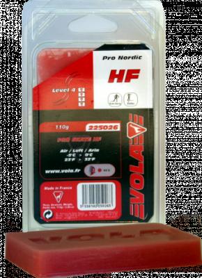Závodní běžecký fluorový vosk červený PRO SKATE HF 225026 -5°C / 0°C 110g.