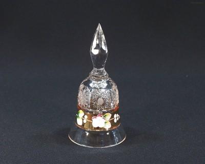 Zvonek křišťálový broušený 17010/57111/126 13cm Tom Crystal Bohemia