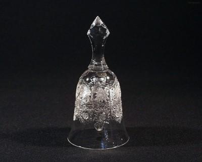 Zvonek křišťálový broušený 17058/57001/155  15,5 cm Tom Crystal Bohemia